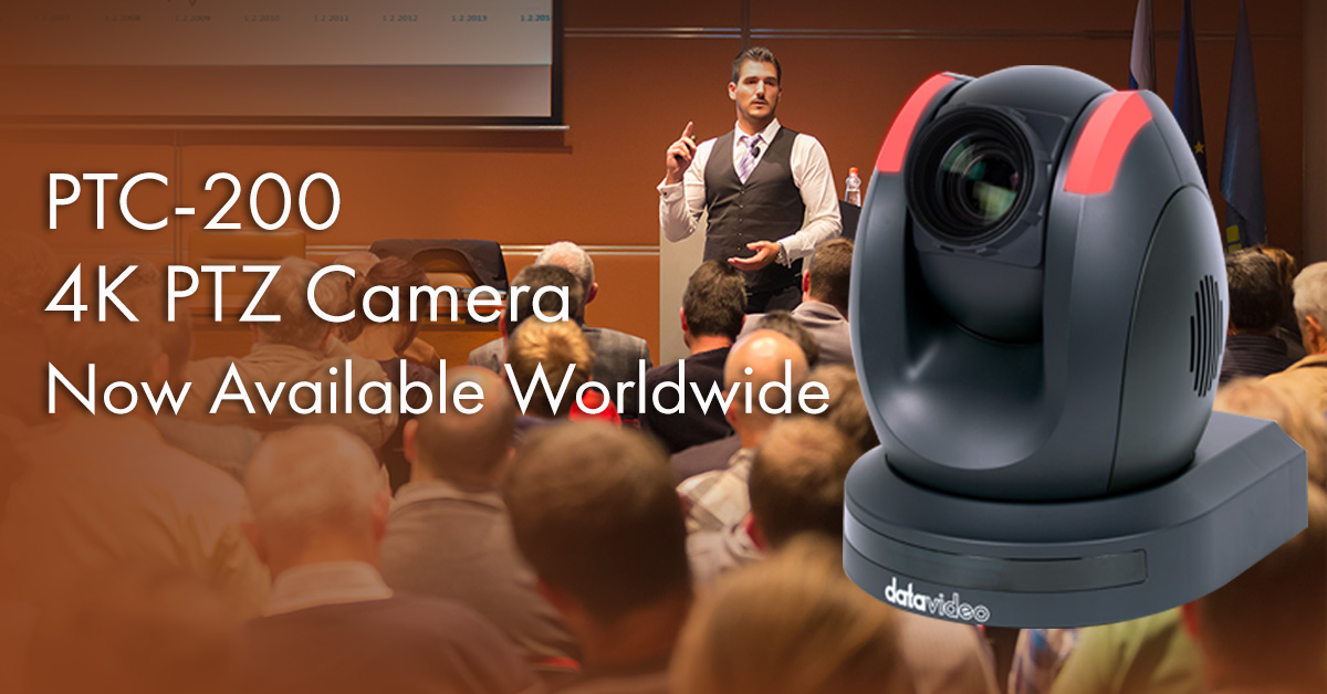 Datavideo announces new versatile PTC-200 4K pan-tilt-zoom camera