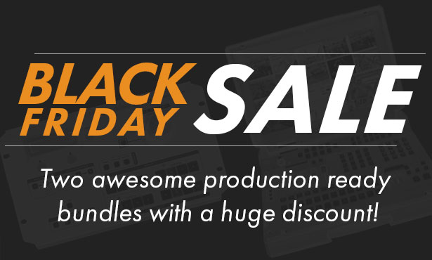 Black Friday Sale at Datavideo, Heavily Discounted Production Bundles!
