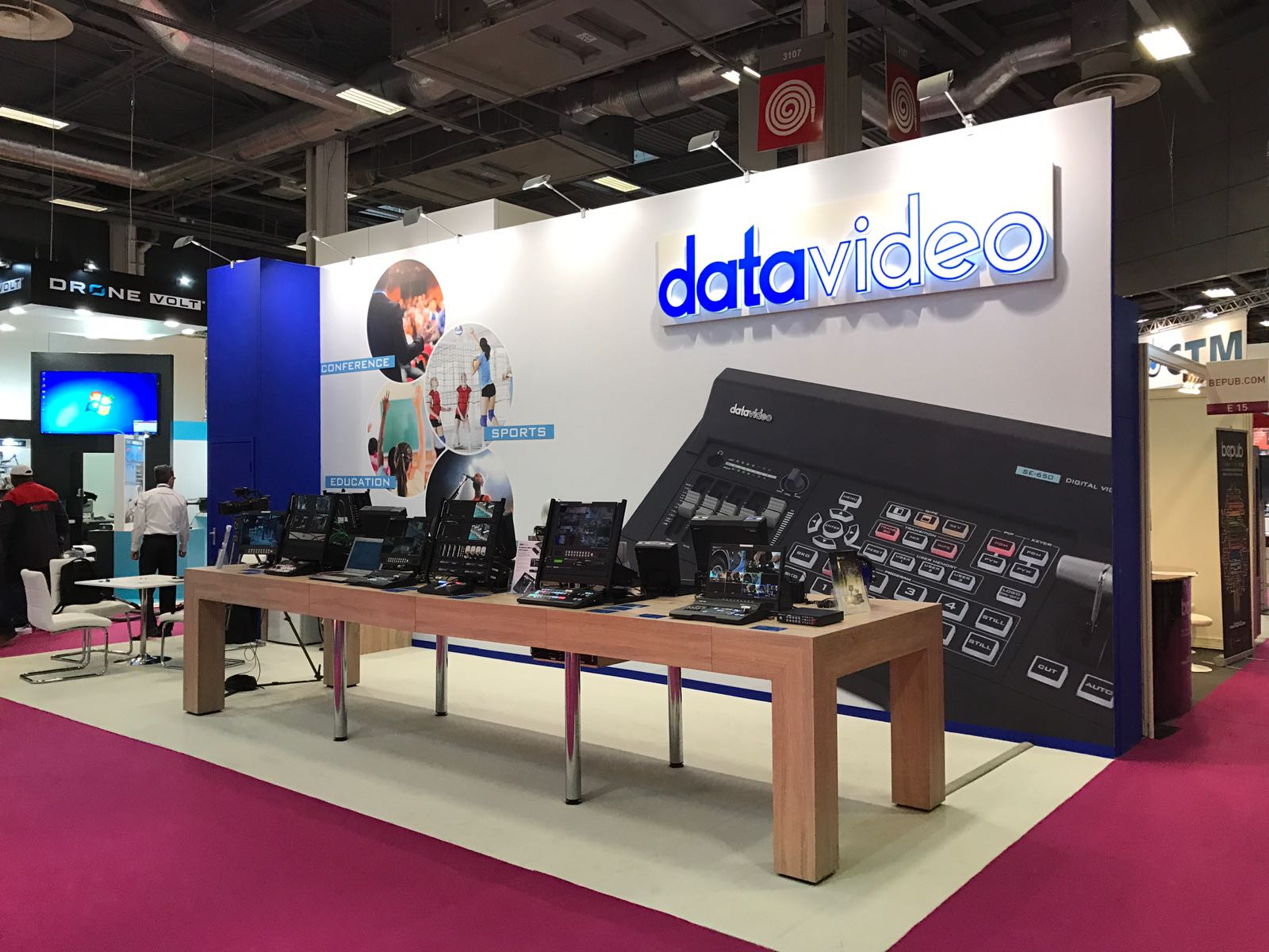 Datavideo exhibits at the annual SATIS Expo in Paris