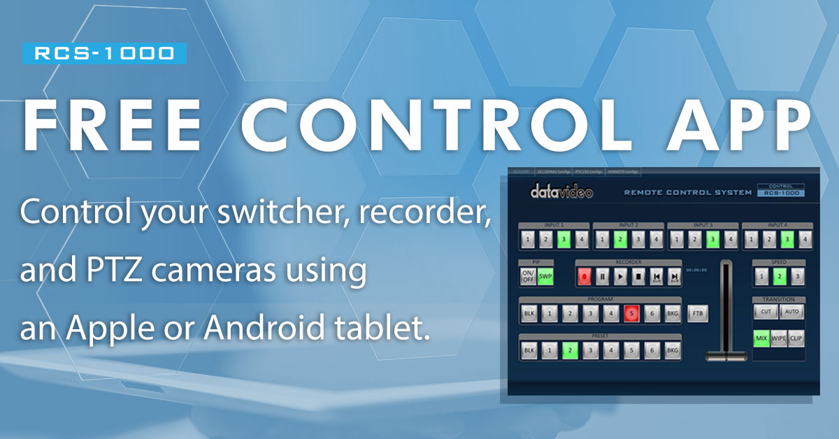 Datavideo announces RCS-1000, an app that can simultaneously control multiple products
