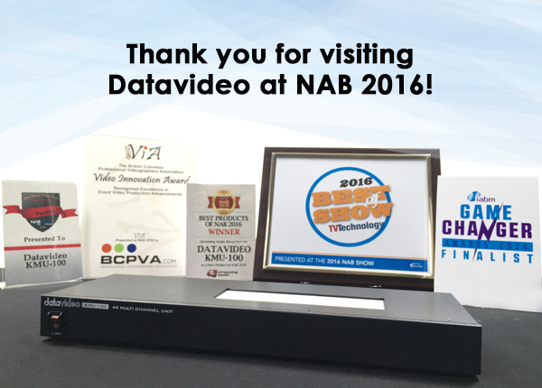 NAB 2016 Awards and New Products